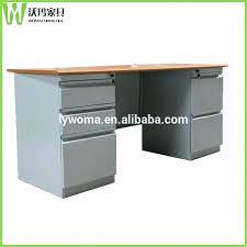 vintage metal office desk. Metal Office Desk Legs Wooden Top Design Steel Table Executive Vintage S
