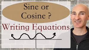 sine or cosine writing equations given graph