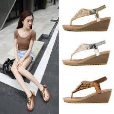 Luxury Women's Wedge Heel Summer Platform Sandals Espadrilles ...