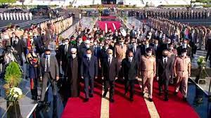 مصر تشيّع جثمان جيهان السادات في أول جنازة عسكرية تقام لسيدة - صحيفة صدى  الالكترونية