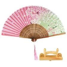 Japanese Fan Display Stand Japanese Hand Held Fan Sakura Silk Folding Fan With Wooden Fan 12