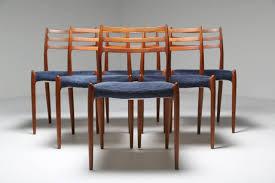 vintage teak furniture. A Set Of Six Danish Teak Vintage Dining Chairs, Model Number 78 By Niels  Moller Furniture