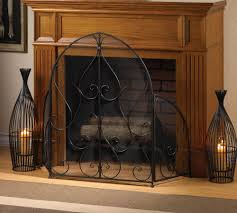 image of decorative fireplace screens wrought iron