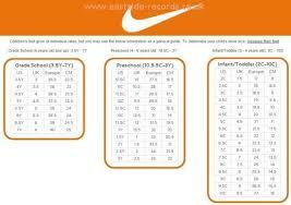 Nike Girls Shoes Size Chart Eastside Records Co Uk