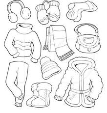 Small Picture winter clothes coloring page free for kids Coloring Other