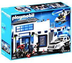 Playmobil City Action Police Van With Lights And Sound 6043 Playmobil 9372 City Action Police Station Bundle Learning
