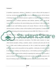 Example Of A Reflective Essay Reflection Using Gibbs Model Essay Example Topics And Well