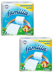 <b>Туалетная бумага FAMILIA RAINBOW</b> 2 сл 8 рул, 2 упаковки по ...
