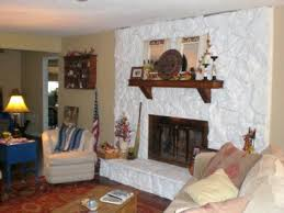 white stone fireplace popular