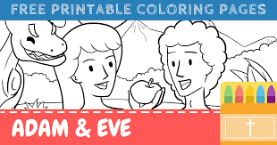 Free printable coloring pages for kids! Free Printable Adam And Eve Coloring Pages For Kids Connectus