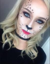 glamorous cheetah halloween makeup