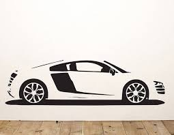 Small Picture R8 Sports Car Vinyl Wall Sticker Contemporary Wall Stickers