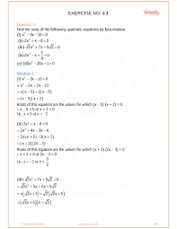 ncert solutions for class 10 maths chapter 4 quadratic equations free pdf