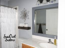 bathroom Diy Bathroom Mirror Framed Mirrors Ideas Rustic Frame