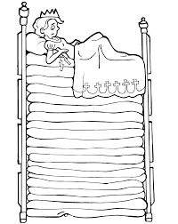 princess and the pea coloring page. princess and the pea coloring page: atop many mattresses page e