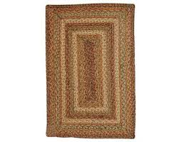 homespice decor jute braided harvest rectangular red area rug