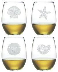 beach wine glasses diy glass candle holders es