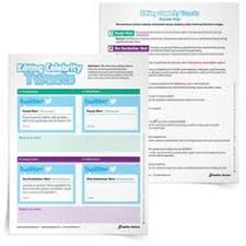tips tricks and resources for teaching narrative writing  celebrity tweets editing worksheets