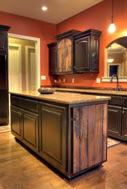 kitchens with black distressed cabinets. Custom Barnwood Accented And Black Distressed Kitchen Cabinets. Kitchens With Cabinets