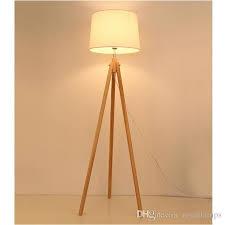 2019 svitz nordic style wood tripod floor lamp for reading room hotel room e27 led three legged stent standing lamp wood study floor light from royallamps