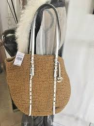 michael kors studded raffia straw large tote with leather handles 30s4gswt3w for