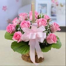 Image result for basket of flowers