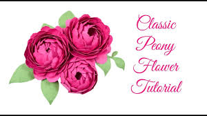 Peony Paper Flower Step By Step Easy Peony Paper Flower Tutorial