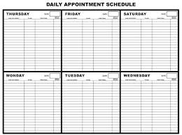Office Com Calendar Templates Images Of Appointment Waiting List Template Patient Schedule