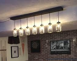 mason jar track lighting. 7 light diy mason jar chandelier rustic lighting wood vintage track
