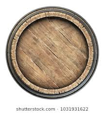 oak barrels stacked top. Wooden Barrel Top View Isolated On White Background 3d Illustration Oak Barrels Stacked