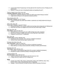 Resume Templates For High School Students Awesome Sample Student Of