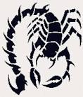 Вышивка крестиком скорпионов