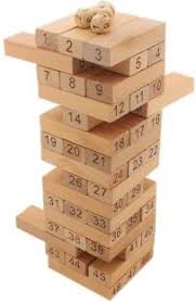 Game With Wooden Blocks Tootpado Jenga Wooden Bulding Blocks Height100100 cm Team 25