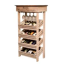 Napa Vineyard Crate Wine Rack and Cabinet