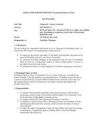 Lifeguard Job Description Portishead Open Air Pool