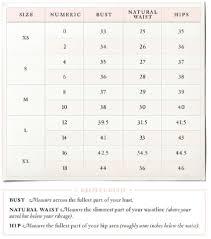 Anthropologie Dress Size Chart Wedding Dress Size Conversion Anthropologie Size Chart