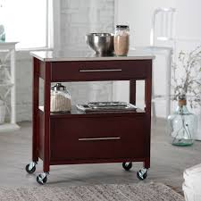Crosley Furniture Kitchen Island Kitchen Carts Kitchen Island Cart With Drawers Acacia Wood Cart