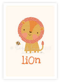 lion print animal nursery wall art illustration kids childrens yellow decor baby room wall nursery jungle safarii baby nursery cool bee animal