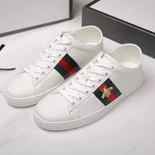 gucci ace bee embroidered collapsible heel leather sneakers dopestkickz