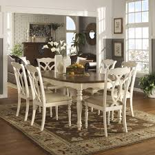 kitchen dining room sets shayne country antique two tone white extending dining set by inspire q clic