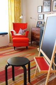 mid century modern chairs ikea. an articulated lamp (ikea\u0027s rannarp) lights up the cozy reading nook perfect for bedtime stories. mid-century modern dresser mid century chairs ikea