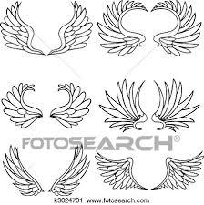 天使翼 セット クリップアート切り張りイラスト絵画集