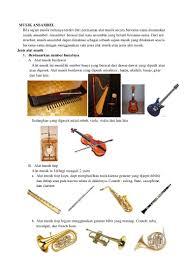 Alat musik gesek termasuk dari instrumen musik yang dimainkan dengan cara memainkannya digesek pada beberapa bagiannya. Musik Ansambel