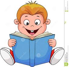 a cartoon boy reading a book stock vector ilration of open cartoon