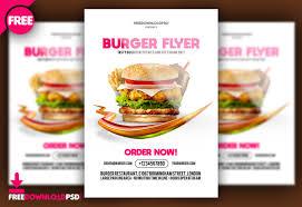 Flyer Design Food Burger Flyer Free Psd Freedownloadpsd Com