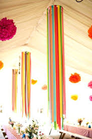 decoration using crepe paper streamer chandeliers decorating with crepe paper flowers