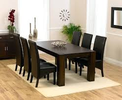 amazing of dark wood dining room set oak chairs black table stunning for 6 brilliant decorati