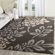 safavieh ultimate shag dark brown slate grey floral area rug 8u0027 6 x 12u0027 sg45628809 size 8u0027 12u0027 grey floral area rug l99 floral