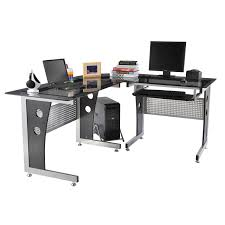 l shape office desks. L-Shape Corner Computer Desk PC Glass Laptop Table Workstation Home Office 64inc L Shape Desks