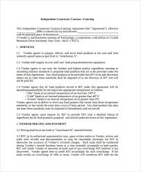 Catering Contract Agreement Simple 48 Catering Contract Templates Free Sample Example Format